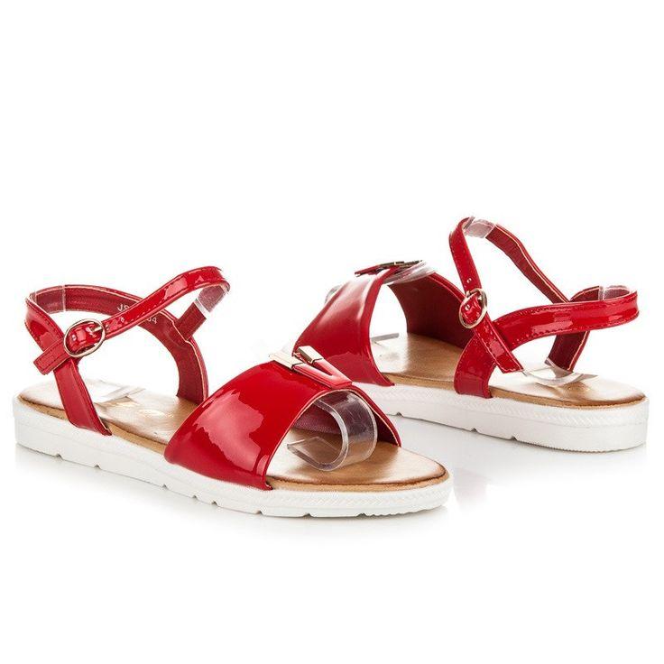 Červené sandále PARIS JS-4754R