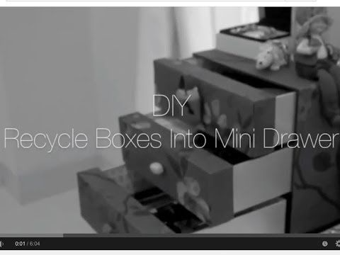 Craft Warehouse   DIY : Old Boxes into Mini Drawer
