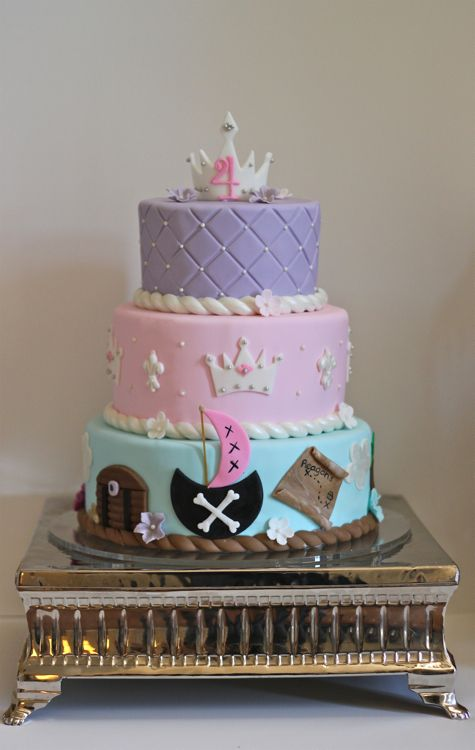 Reagan's Princess and Pirates Birthday Cake