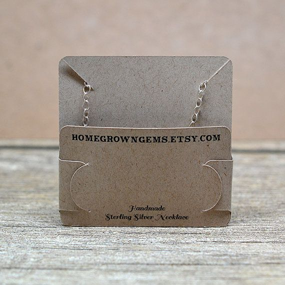 Customized Pocket Fold Necklace Cards Holds by HomegrownGems                                                                                                                                                                                 More