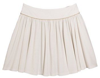 Womens jersey skirt with sequins