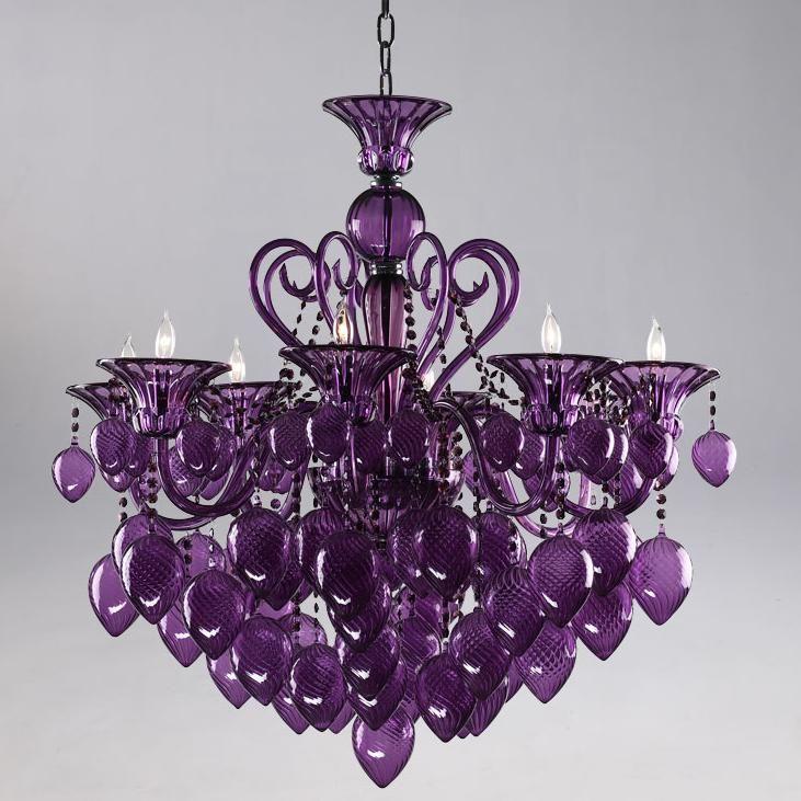 Cyan Purple ChandelierGuest Room, Dining Room, Purple Rain, Girls Bedrooms, Glasses Chandeliers, Purple Chandeliers, Things Purple, Purple Glasses, Purple Bedrooms