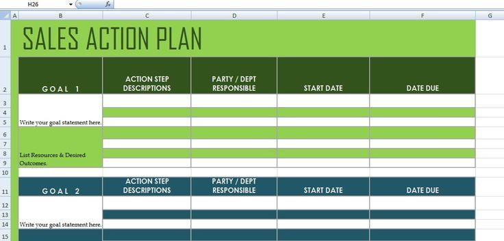 Get Sales Action Plan Template XLS Excel Project Management - project scorecard template