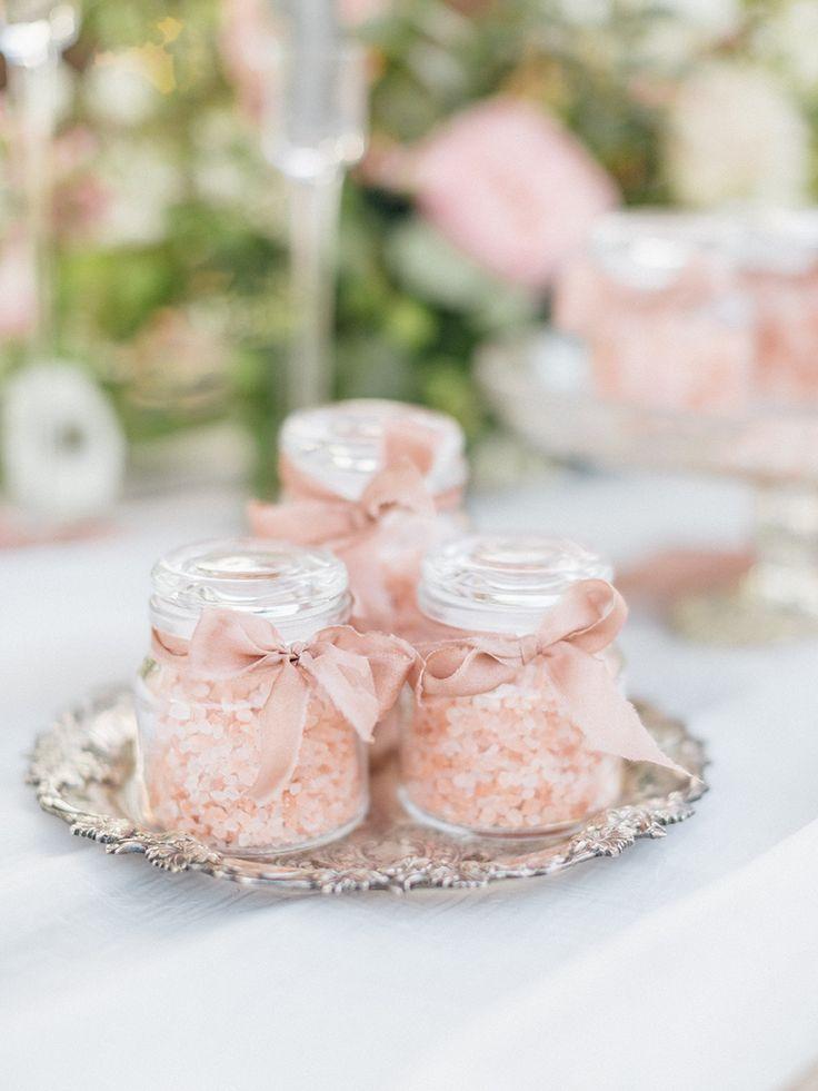 Blush wedding favors: Photography: Emily Wren - http://emilywrenweddings.com/