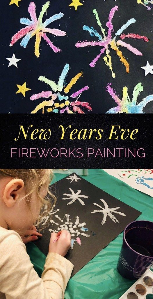 fireworks salt painting fun activity to do with the kids for new years eve