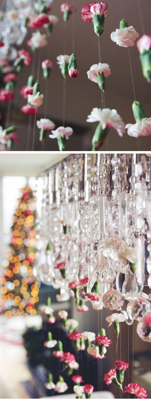 Cascading Chandelier Flower Garland | 15 DIY Wedding Ideas ...
