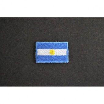 Application à thermocoller drapeau Argentine Ecusson en vente http://www.labellelutetia.com . LA BELLE LUTETIA - mercerie discount en ligne, Paris