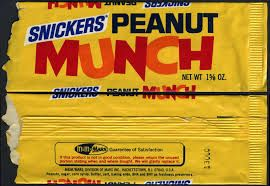 Munch is a candy that is manufactured at Mars incorporated. It is marked as being a healthy snack because of the 6 ingredients in the snack bar. The snack bar was introduced as the Snickers Munch Bar.