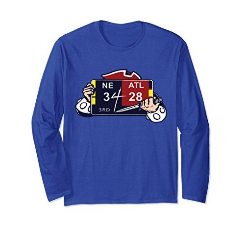 Premium Unisex New England Patriots NE 3 ATL 28 Final Score Long-sleeve T-Shirt. Available in 5 different colors. Get yours today on Amazon for only $24.99!    https://www.amazon.com/dp/B077GW8M5H/ref=cm_sw_r_pi_dp_x_z8hdAbCRGQXWJ