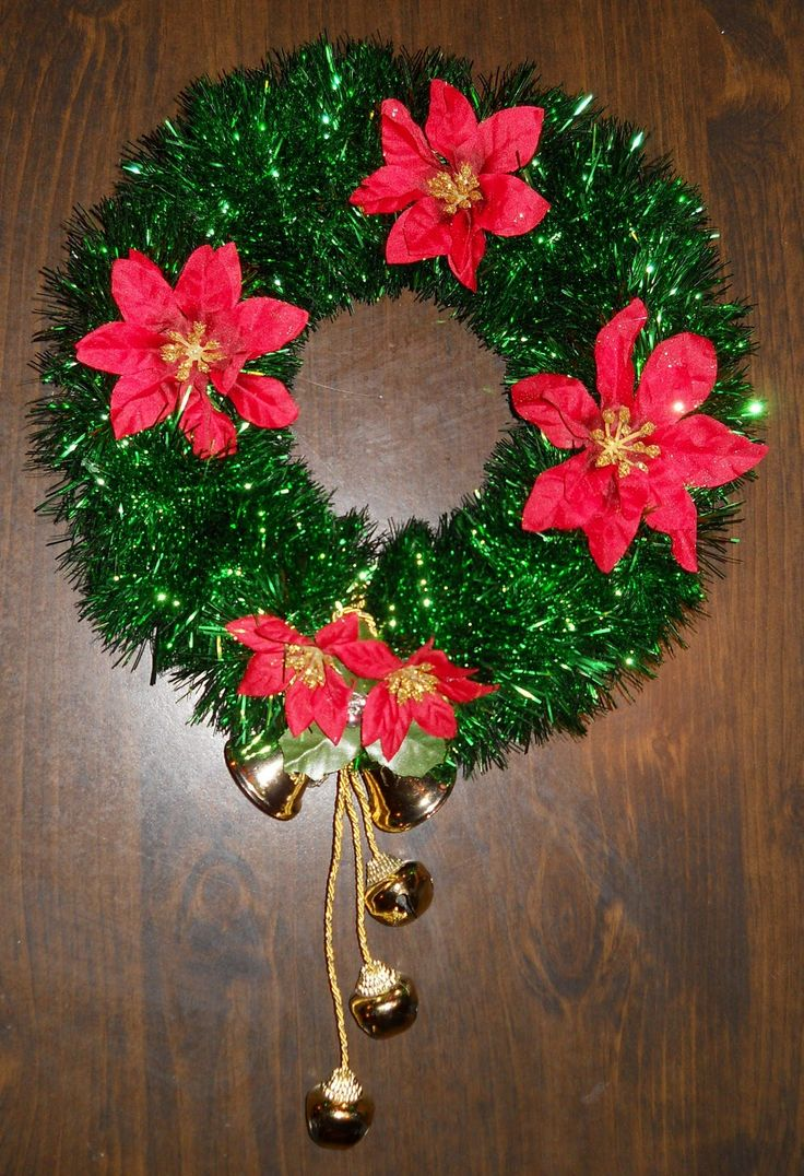 Christmas Arts And Crafts Ideas For Adults Part - 23: Easy Crafts For Adults | Easy Tinsel Wreath Create A Very Simple Yet  Elegant Wreath · Christmas Arts ...