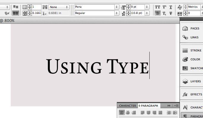 Using Type: InDesign Defaults #fontshop #typography