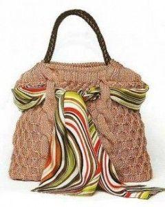 Вязаная сумка в стиле Грейс Келли