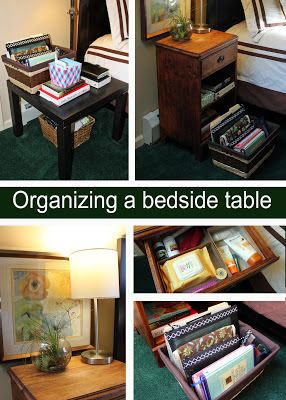 my great challenge organizing a bedside table