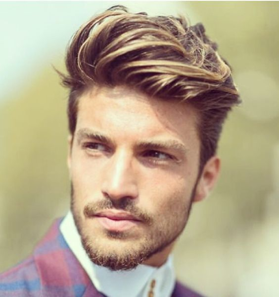 Image result for highlighted taper haircuts men