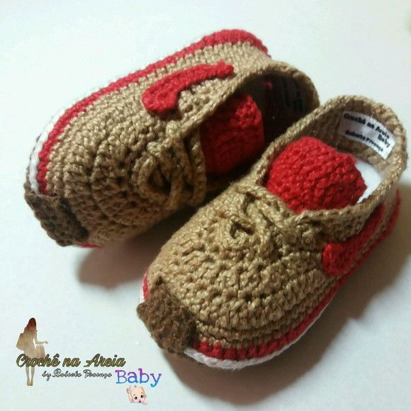 449af03216 Compre TENIS NIKE para bebê em Crochê no Elo7 por R  39