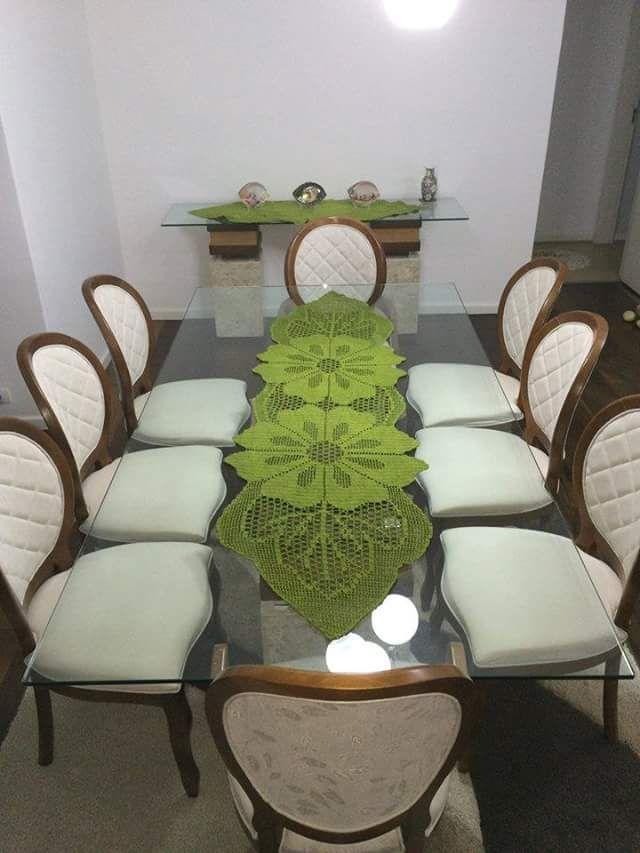 Meu Mundo Craft: Caminho de mesa em crochê filé