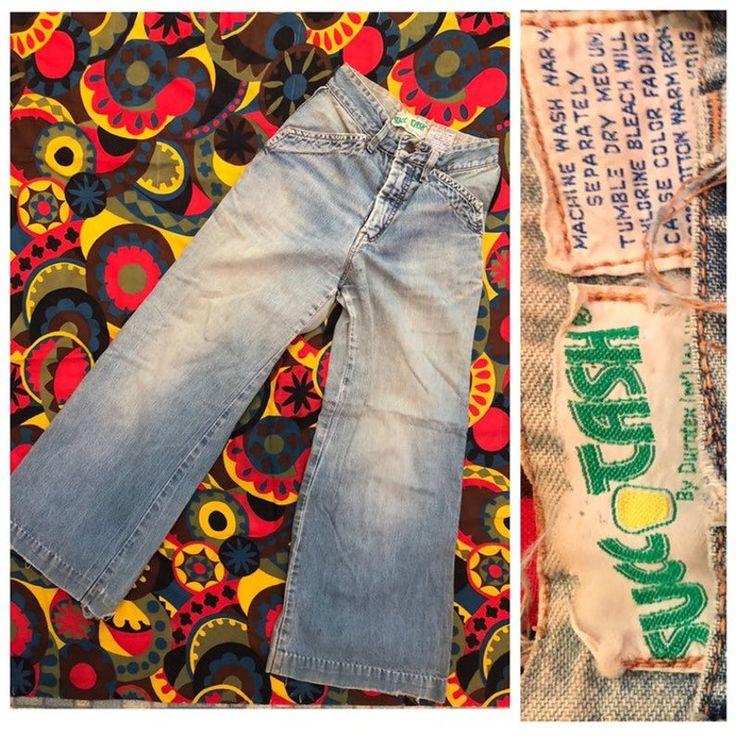 1970s beat up denim bell bottoms // Wide leg blue jean 70s