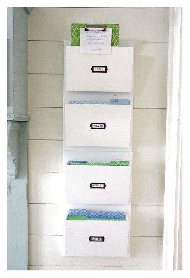 How to Build Hanging Wall File Organizer: Chic White Hanging Wall File Organizer