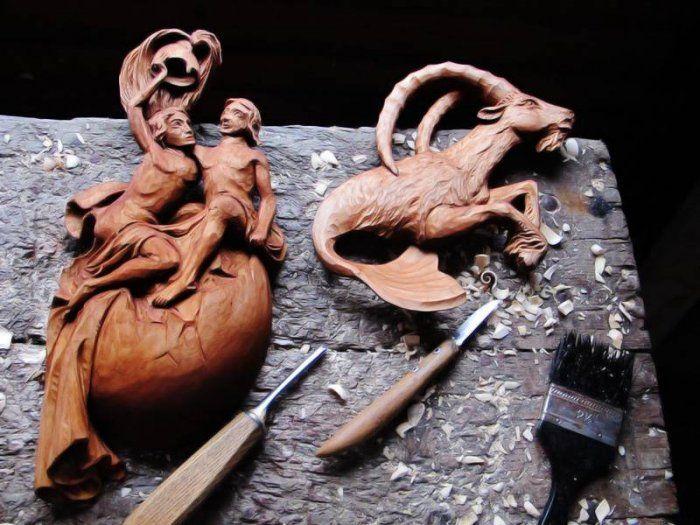 znamení zvěrokruhu | Umělecký řezbář Petr Kysela