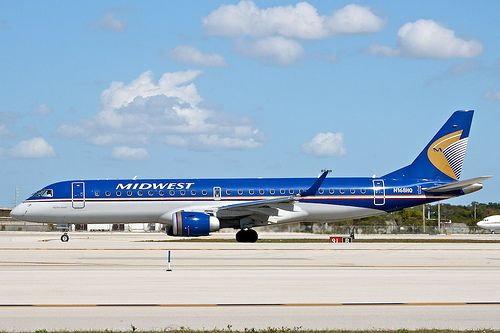 Republic Airlines/Midwest Airlines N168HQ Embraer 190 19000183 KFLL Ft Lauderdale Airport