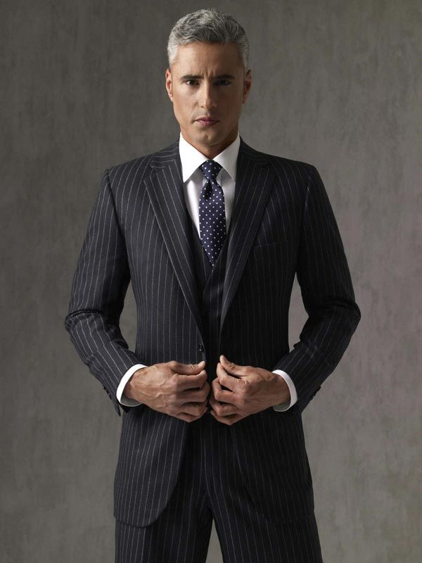 1000 Images About Look Book Black Pinstripe Suit On