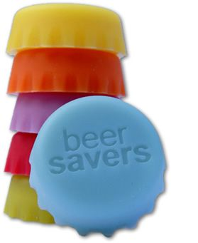 Beer Savers are Reusable Rubber Beer Bottle Caps. Keep Your Beer Fresh! Beer Savers are Food-grade and made of non-toxic silicone rubber. Dishwasher Safe and reusable. They come in multi-colored sets of 6. They fit most standard beer bottles and some larger style beer bottles. $6.99