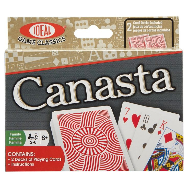 Ideal Canasta Card Game, Card Games
