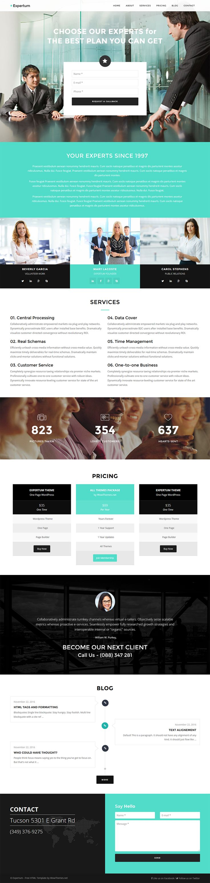 Free Bootstrap HTML Website Template Expertum