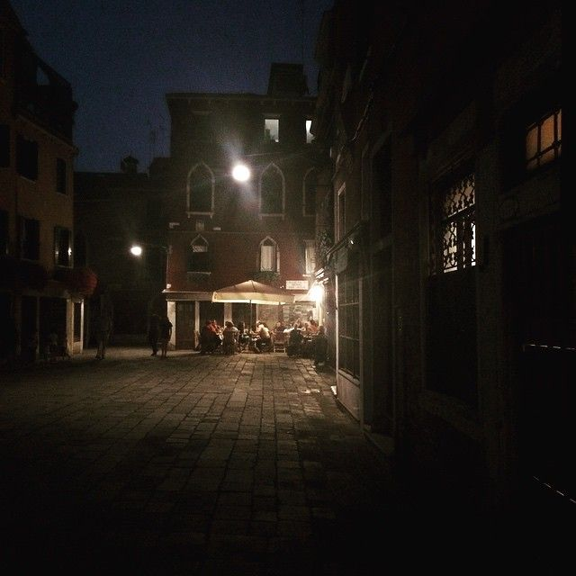 Venice is all about getting lost and finding yourself in neighbourhood squares like this, with kids rolling hoops and kicking balls while their parents eat sardines and cuttlefish.  Romance and seafood in Italy.