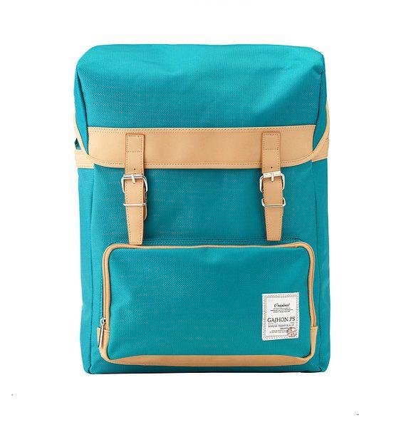 Colorful Big Backpack Blue Green by BagDoRi
