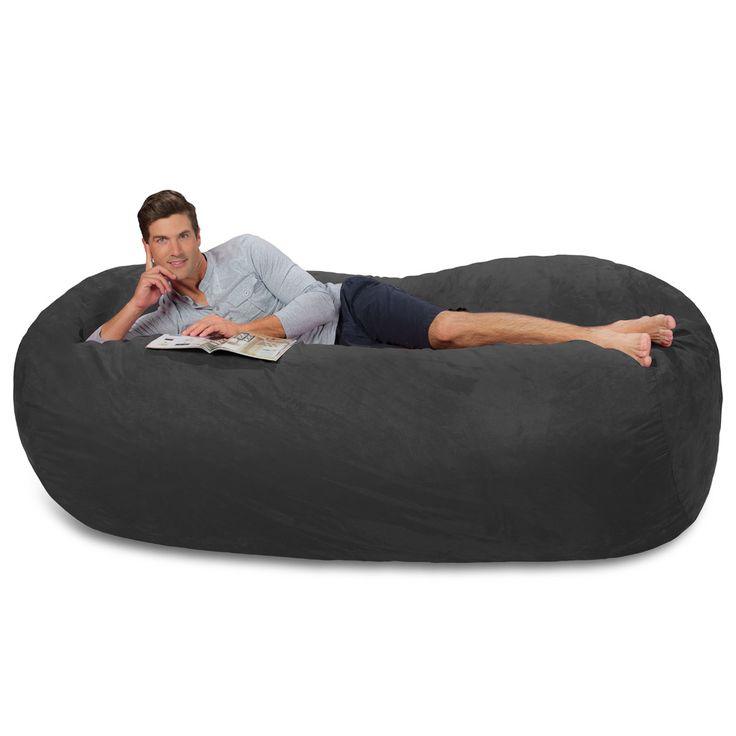 Large Bean Bag Couch - 7.5 Foot Bean Bag Lounger