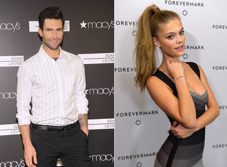 Adam Levine dating model Nina Agdal - we all know it wont last cuz she hasnt even hit puberty yet! lmao!