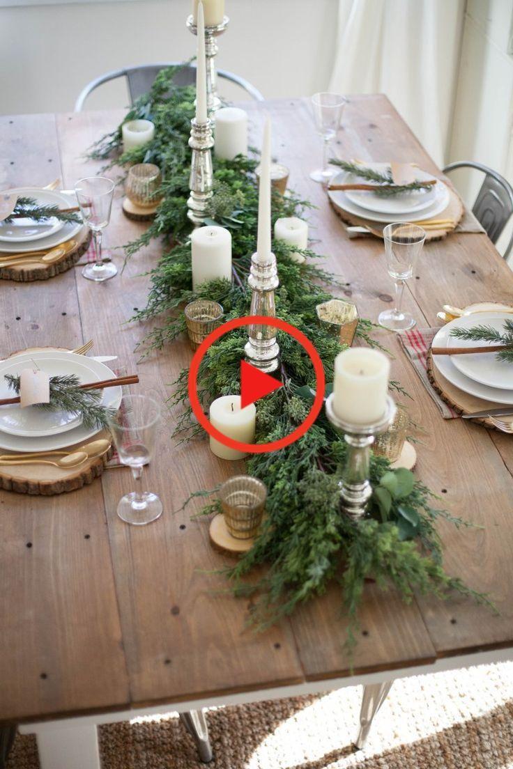 Home Farmhouse Kerstmis Tablescape Christmas Table Decorations Christmas Decorations Rustic Diy Christmas Table