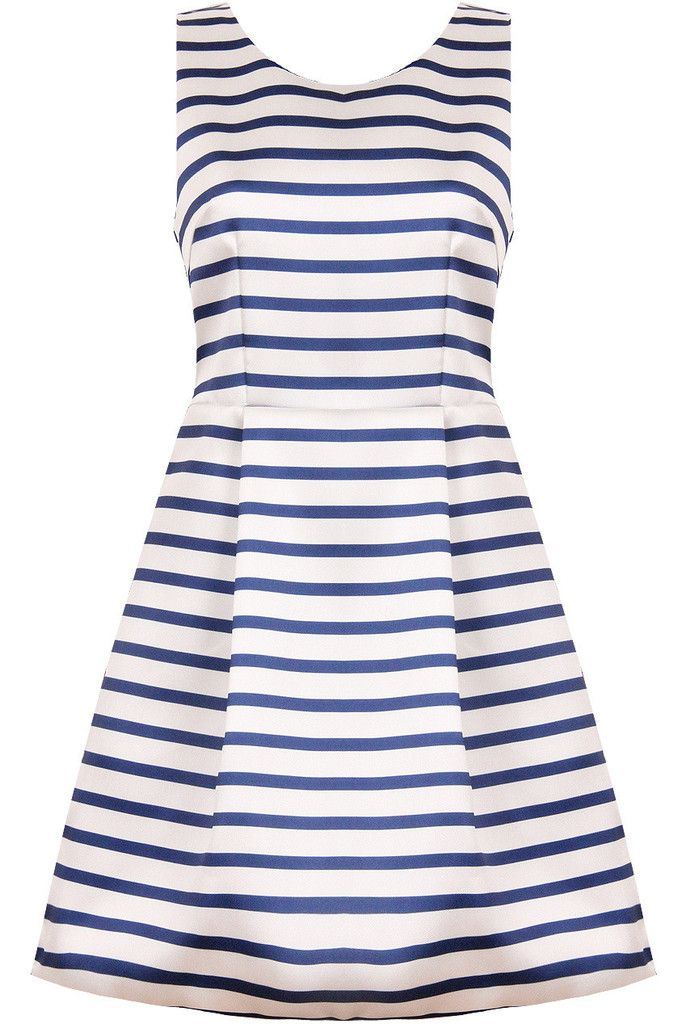 Ladies Blue & White Stripe Dress