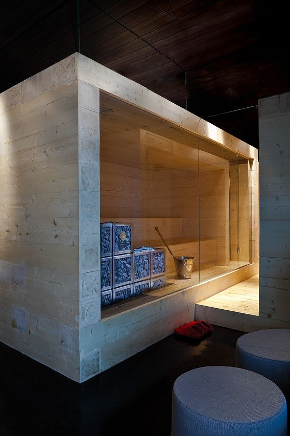 This sauna was created in 2010 for the Finnish Pavilion at Expo 2010 in Shanghai by the boutique Helsinki architecture firm Avanto. The multilevel sauna is made out of hollow logs--the air functions as insulation, while the lightweight construction makes it easy to take apart and transport.