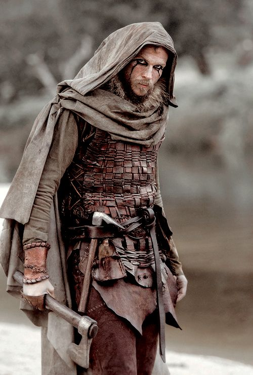 Floki how could you? Poor Athelstan. Vikings, great tv, axe, warrior, beard, powerful face, intense eyes, strong, expression, costume, portrait, photo