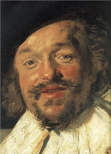 The Merry Drinker (detail), 1630 // Frans Hals