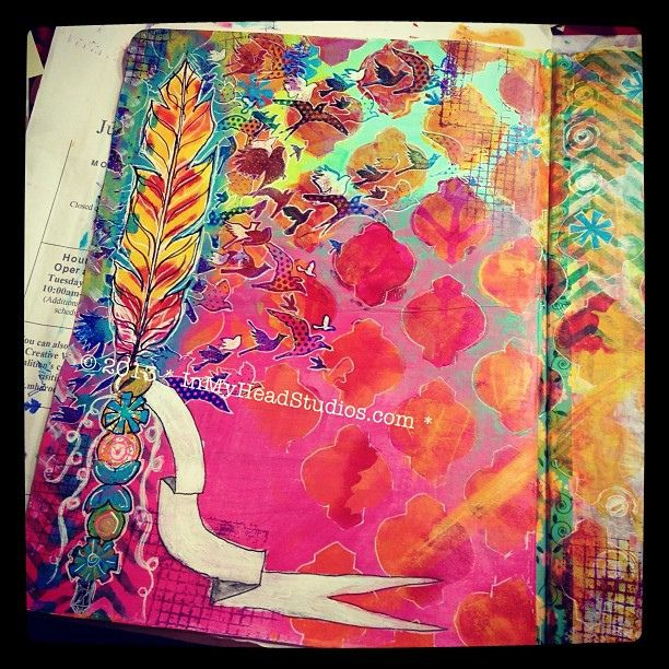 {be creative everyday} APRIL 14 : art journal peek! Finding my groove. | Flickr - Photo Sharing!