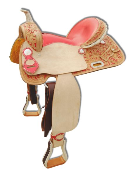 Coral Western Saddle by EVG Leather. www.evgleather.com