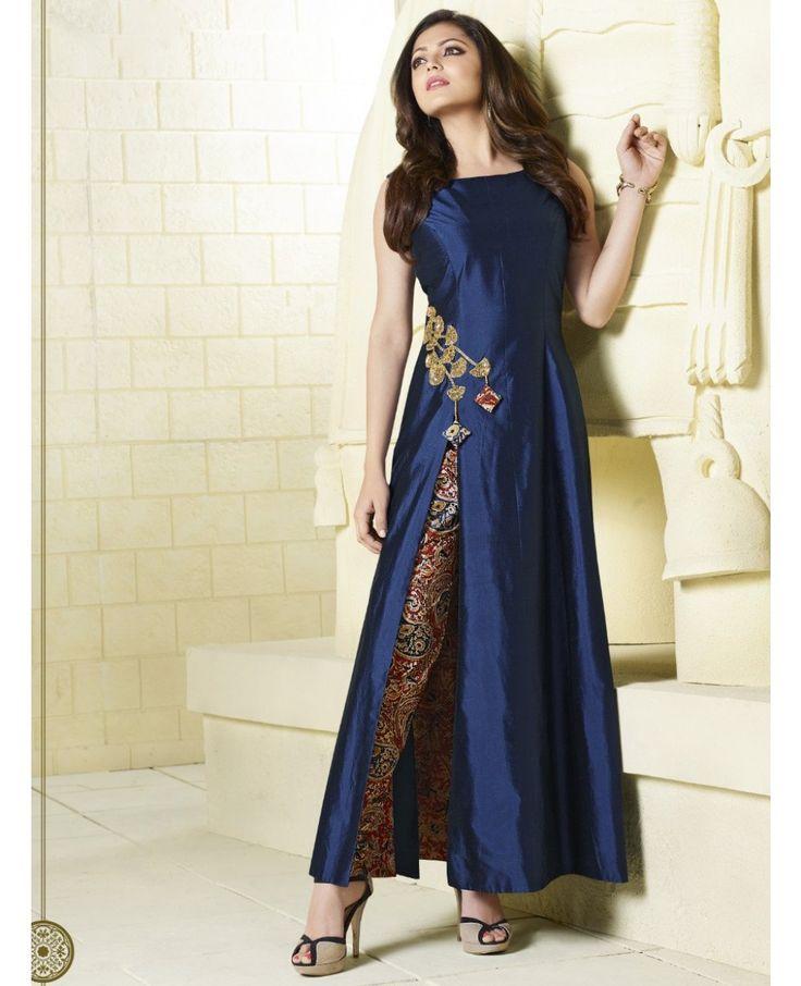 Fabric Inner: Cotton Fabric: Tapeta Silk Color: Indigo Blue