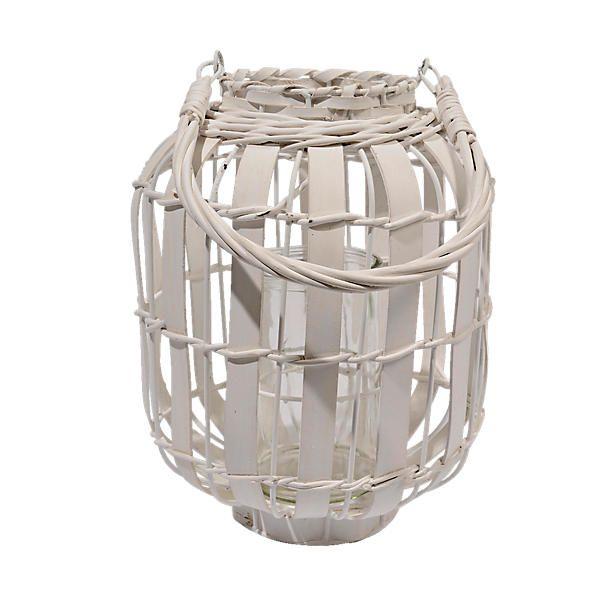 Verlicht je tuin op decoratieve wijze met deze triplex witte lantaarn met handvat! Plaats bijvoorbeeld een waxinelichtje in de lantaarn en creëer een gezellige sfeer!