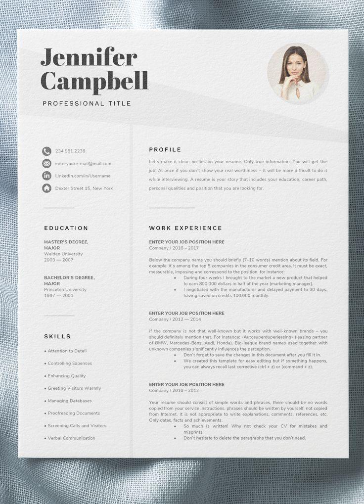 Telechargez Cet Exemple De Cv Avec Photo Sur Notre Site Consultez Egalement Avec Cet Resume Design Microsoft Word Resume Template Project Manager Resume