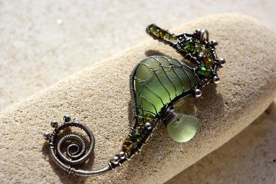 Seaglass seahorse.  Beautiful.