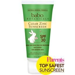 Babo Botanicals Clear Zinc Sunscreen Lotion SPF 30 3oz