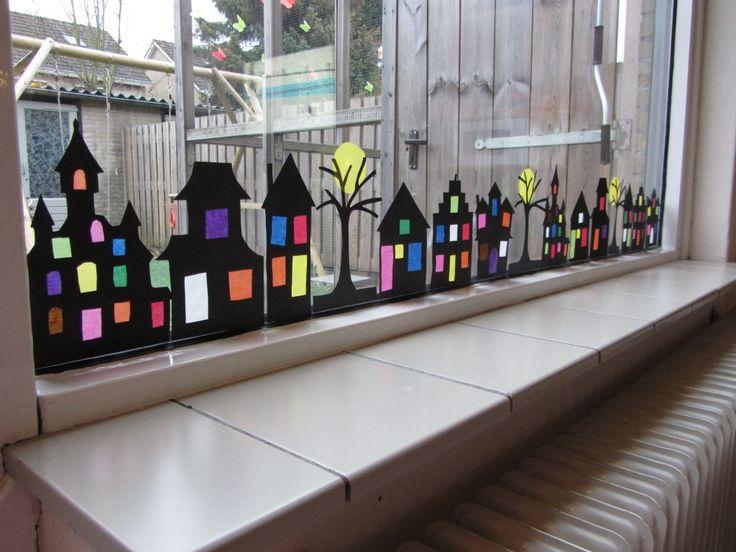 huisjes tegen het raam - Google zoeken | creatief - Deco
