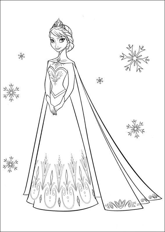 Dibujos para Colorear. Dibujos para Pintar. Dibujos para imprimir y colorear online. Frozen 35