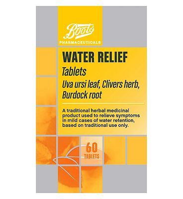 #Boots Pharmaceuticals Boots Alternative Water Relief (60 Tablets) #16 Advantage card points. Traditional herbal medicinal product used to relieve symptoms in mild cases of water retention based on long standing use as a traditional herbal remedy. Active Ingredient: Uva Ursi LeafSee details below, always read the label FREE Delivery on orders over 45 GBP. (Barcode EAN=5000167069686)