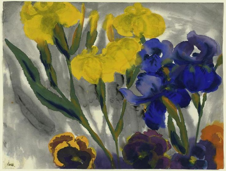amare-habeo: Emil Nolde (1867–1956) - Yellow and blue ...