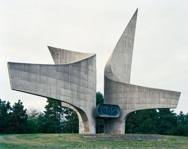 Photographer Jan Kempenaers toured the countryside of former countries that made up Yugoslavia and documented old, forgotten monuments. Many of the monuments are WWII and concentration camp memorials commissioned by president Josip Broz Tito in the 60s and 70s. Following the fall of socialism they were and remain abandoned and forgotten.