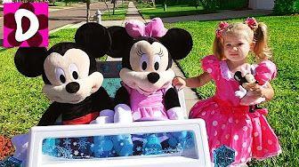 День Рождения МИННИ МАУС Приехали Гости Микки Маус и Минни Toys Mickey Mouse Disney Видео Для Детей - YouTube